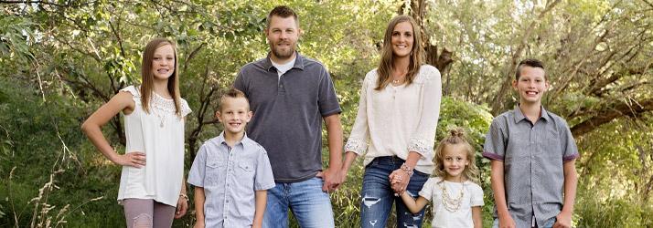 Chiropractor Idaho Falls ID Jaman Brunson with Family